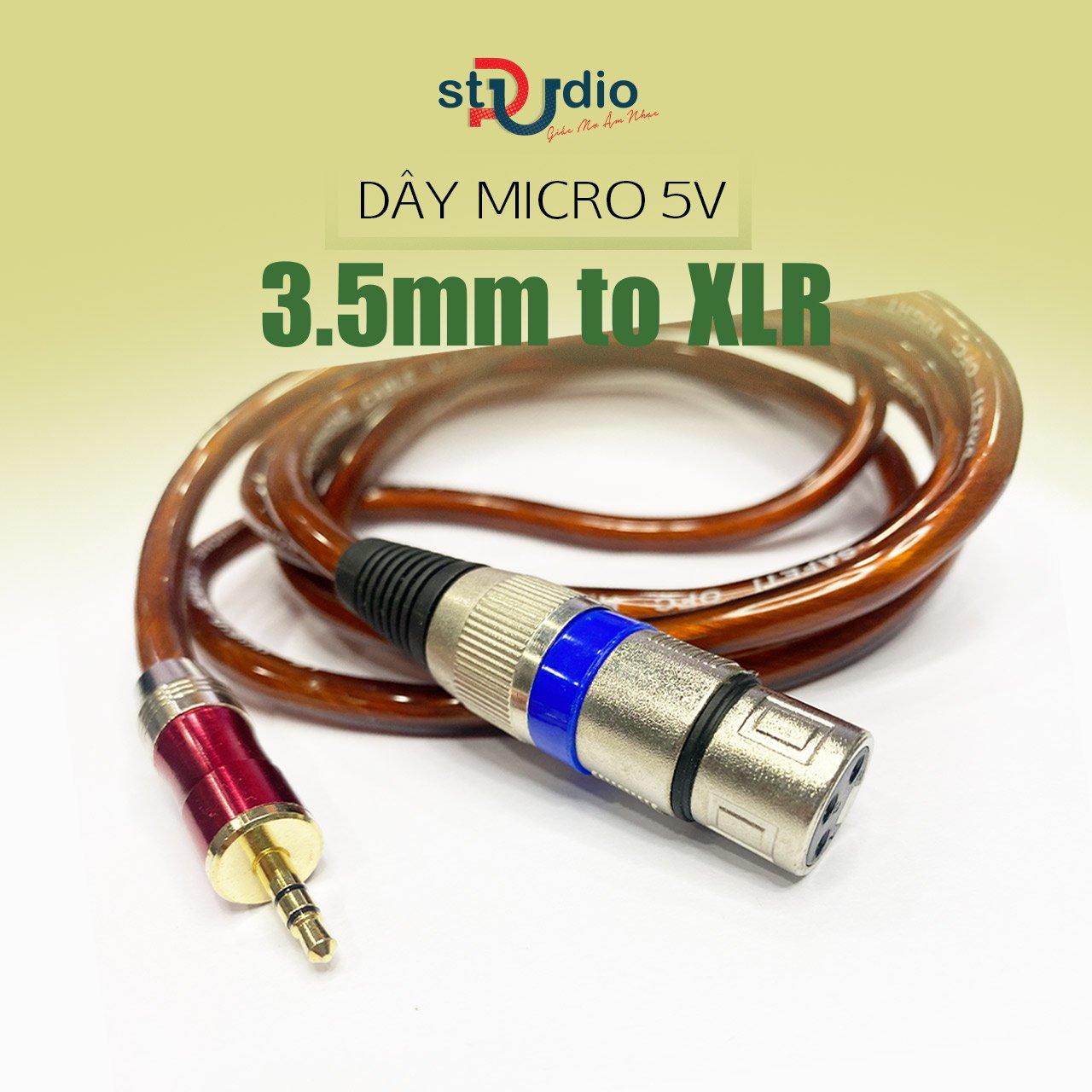 Dây Micro 3.5mm - Dây micro 3.5mm sang XLR