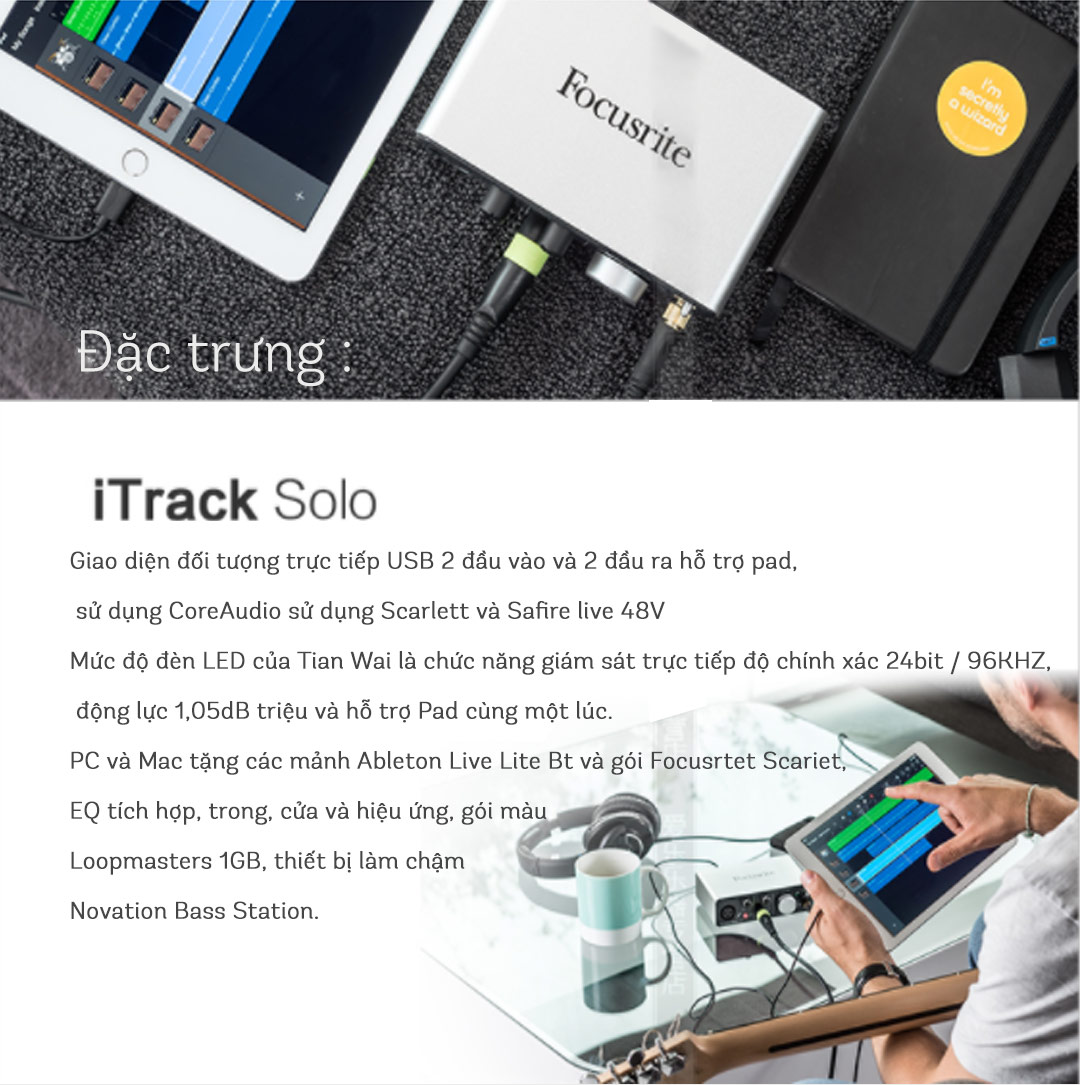 Sound card Focusrite iTrack Solo - Sound card thu âm