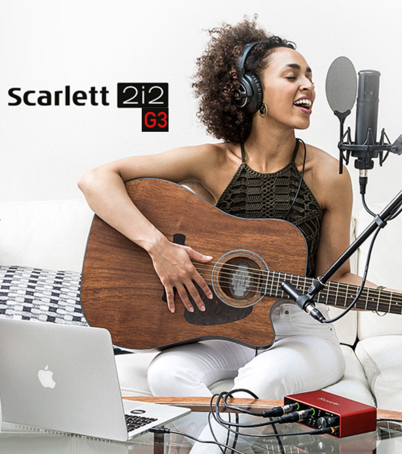 Soundcard Focusrite Scarlett 2i2 3rd (Gen) - Interface thu âm studio 2 Mic