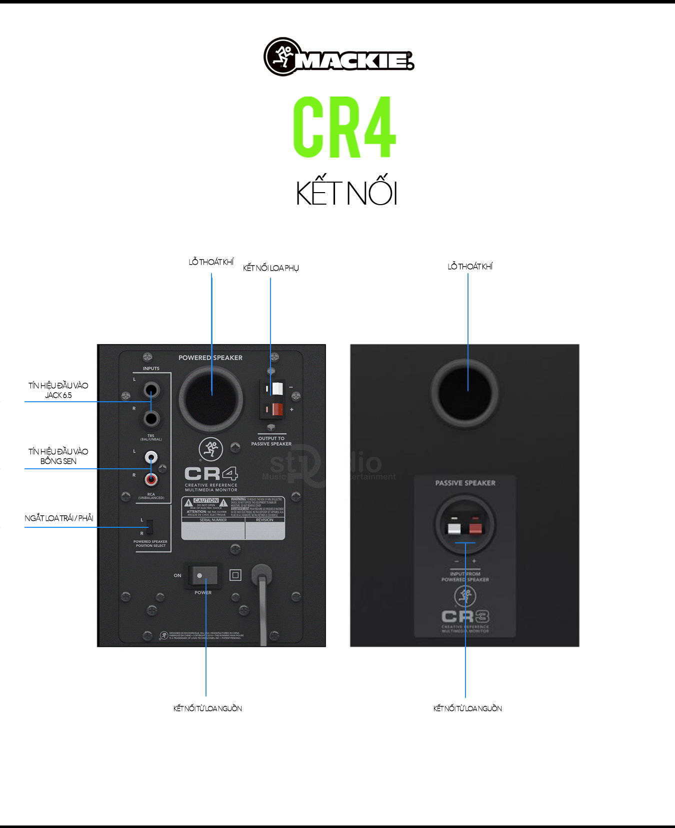 Loa kiểm âm MACKIE CR4 (Cặp), Monitor Studio tốt