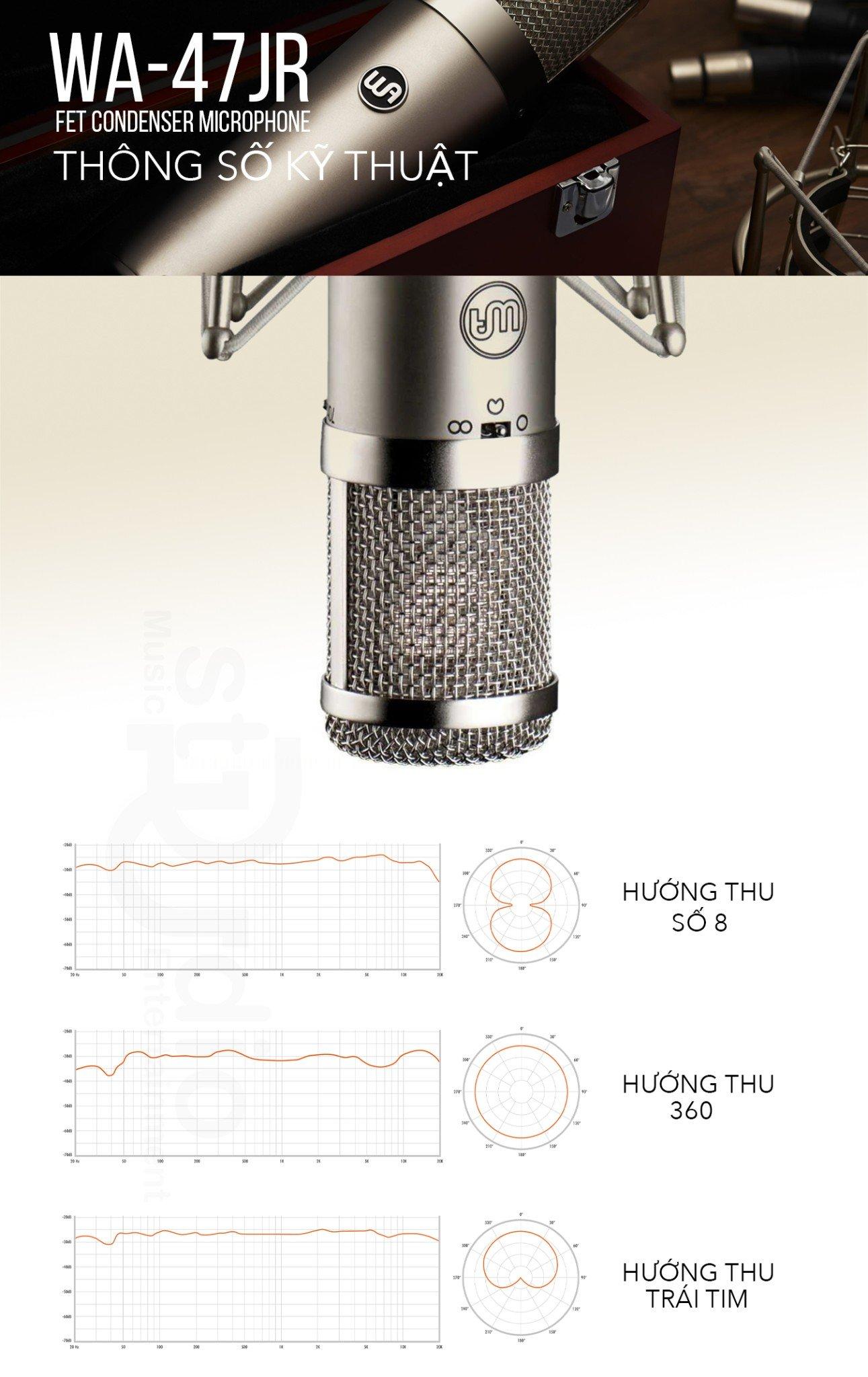Microphone thu âm WARM AUDIO WA-47JR, Mic thu âm cao cấp