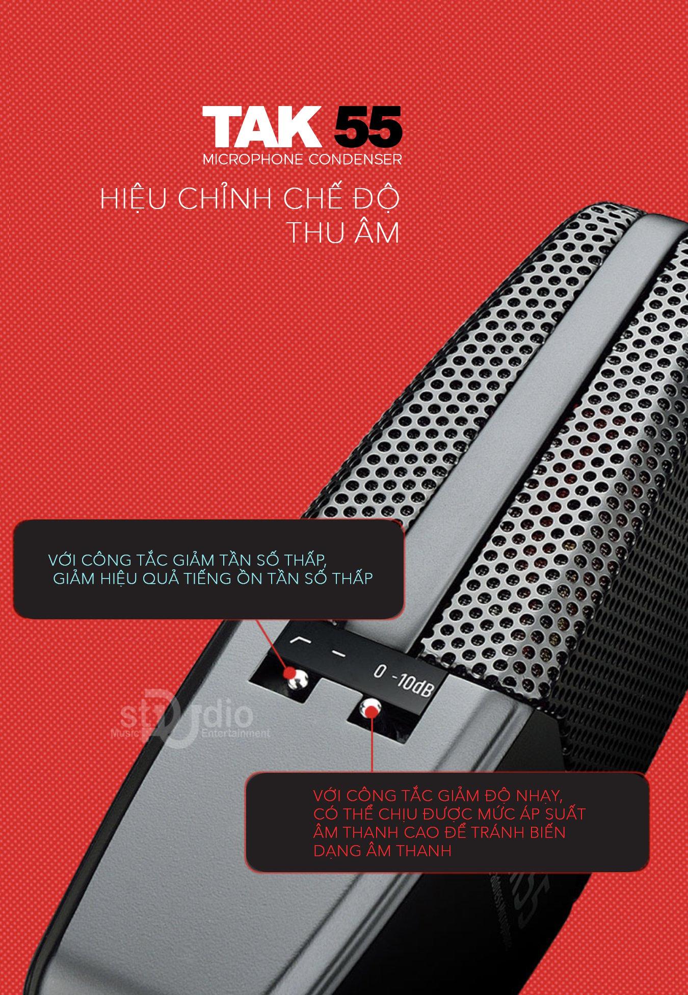 Microphone Takstar TAK55, Micro thu âm hát livestream cao cấp