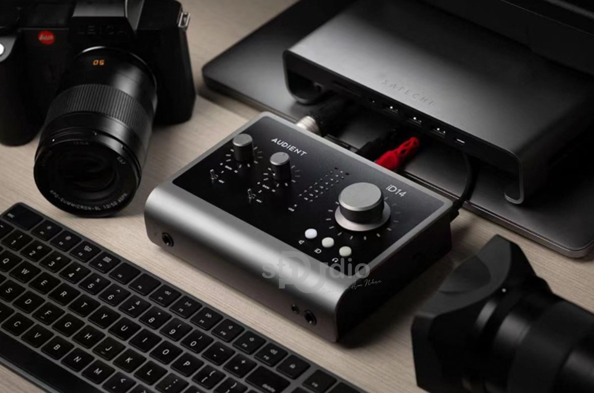Sound card Audient iD14 MKII - Sound card thu âm cao cấp