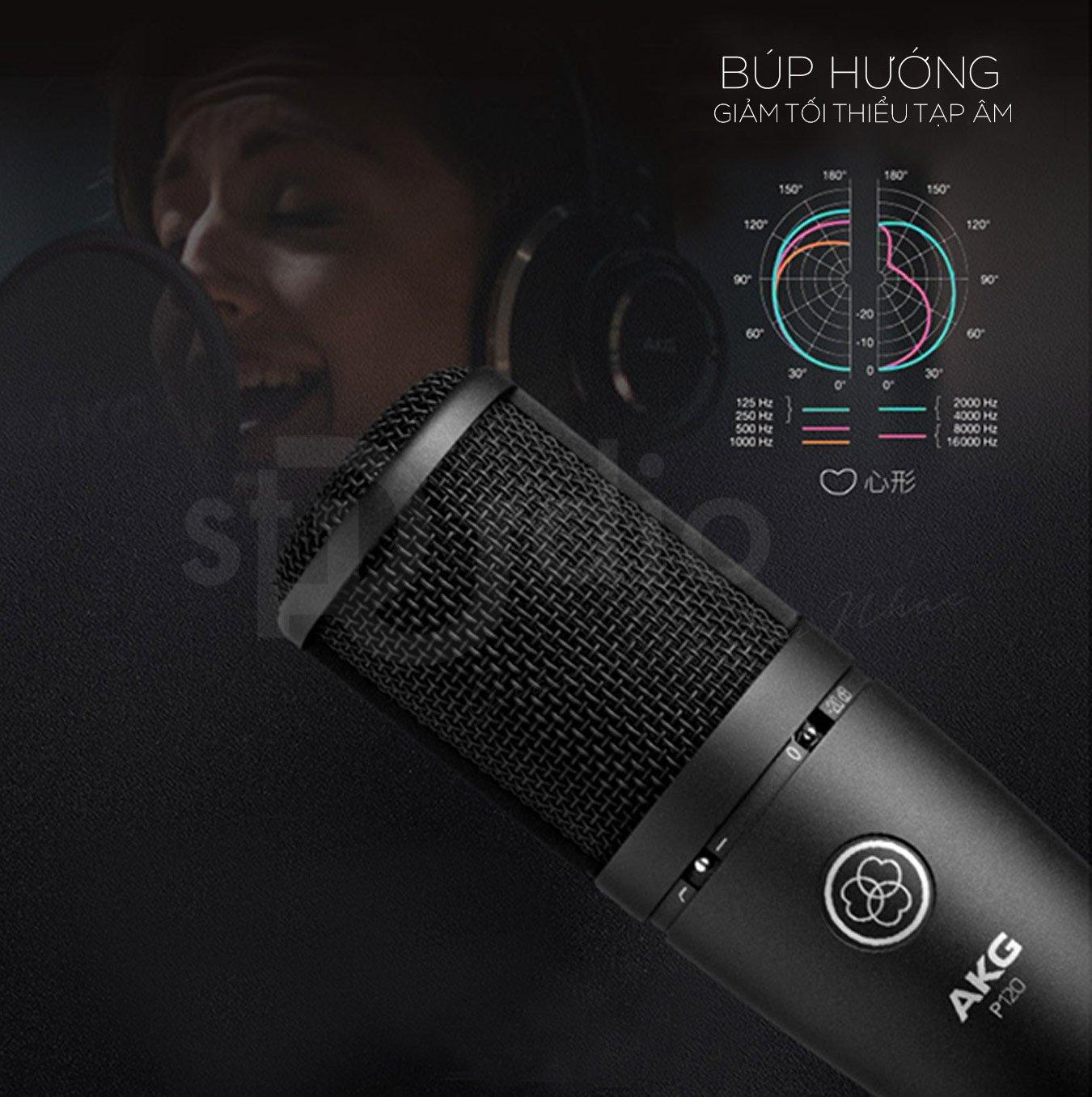 Micro thu âm AKG P120 có thể phối ghép rất tốt với các sound card thu âm. Nếu bạn có ý định đầu tư combo thiết bị thu âm tại nhà thì đừng ngần ngại liên hệ với chúng tôi PUSTUDIO- đơn vị chuyên cung cấp thiết bị thu âm và hát livestream chuyên nghiệp, chúng tôi sẽ tư vấn miễn phí cho bạn các thiết bị thu âm chất lượng cao, giá cả phải chăng. Micro thu âm AKG P120 là sự lựa chọn hoàn hảo cho việc thu âm và hát livestream tại nhà.
