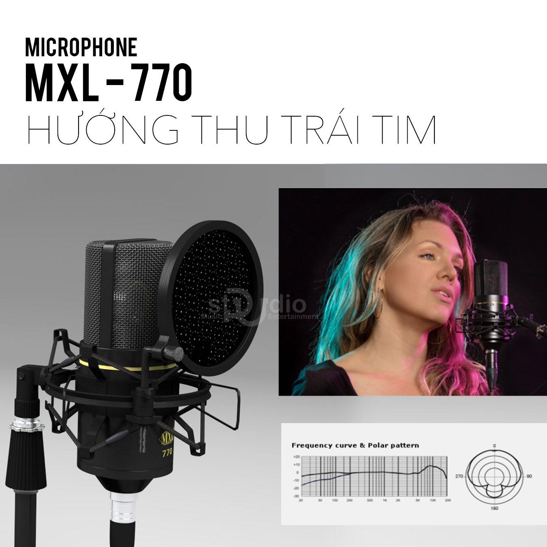 Đặc điểm thiết kế micro thu âm MXL 770