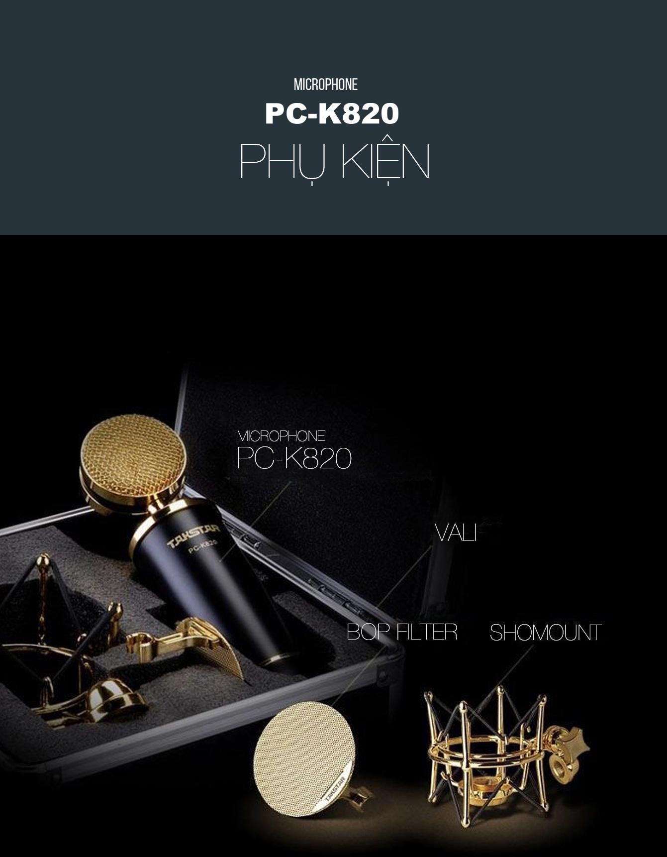 Microphone Takstar PC K820, Micro thu âm chuyên nghiệp sang trọng