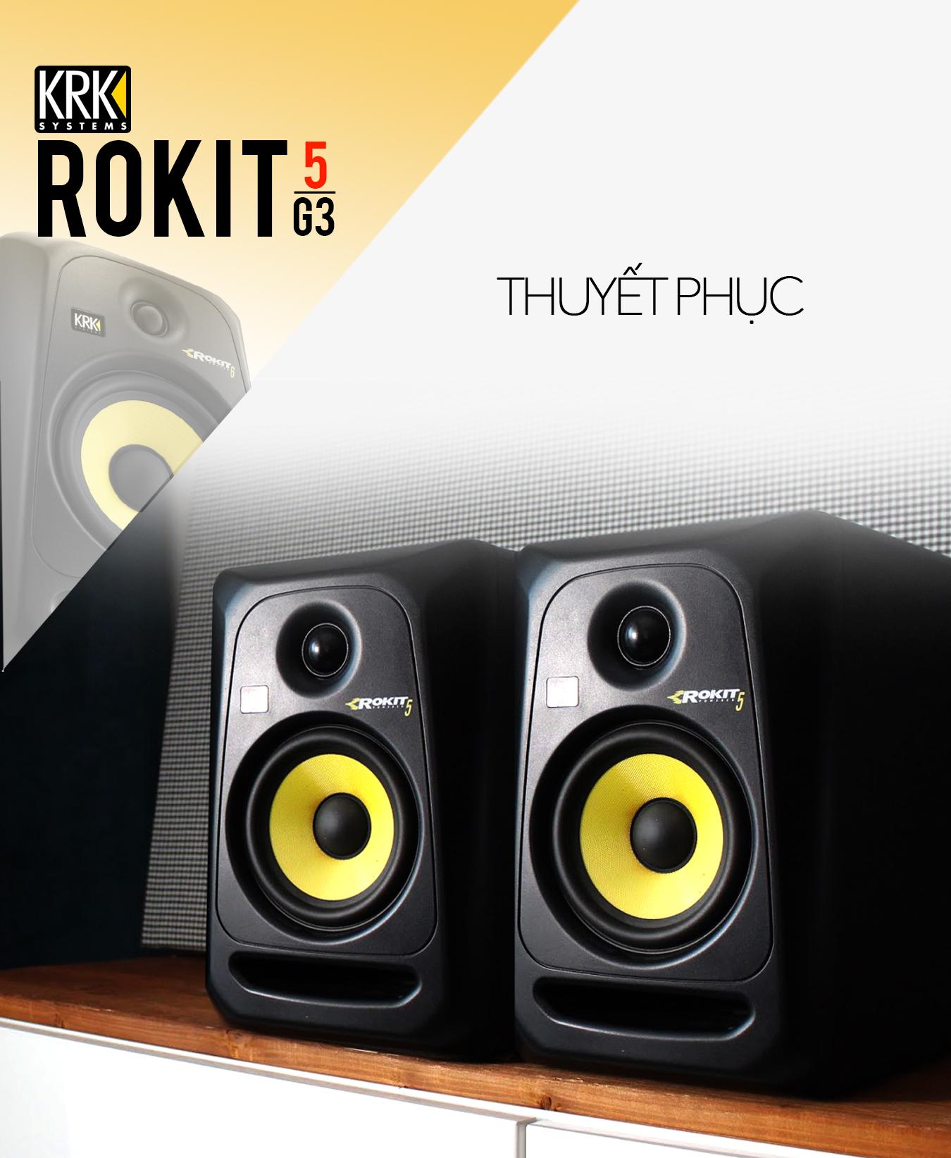Loa kiểm âm KRK ROKIT 5 G3 (Cái), Monitor DJ Studio