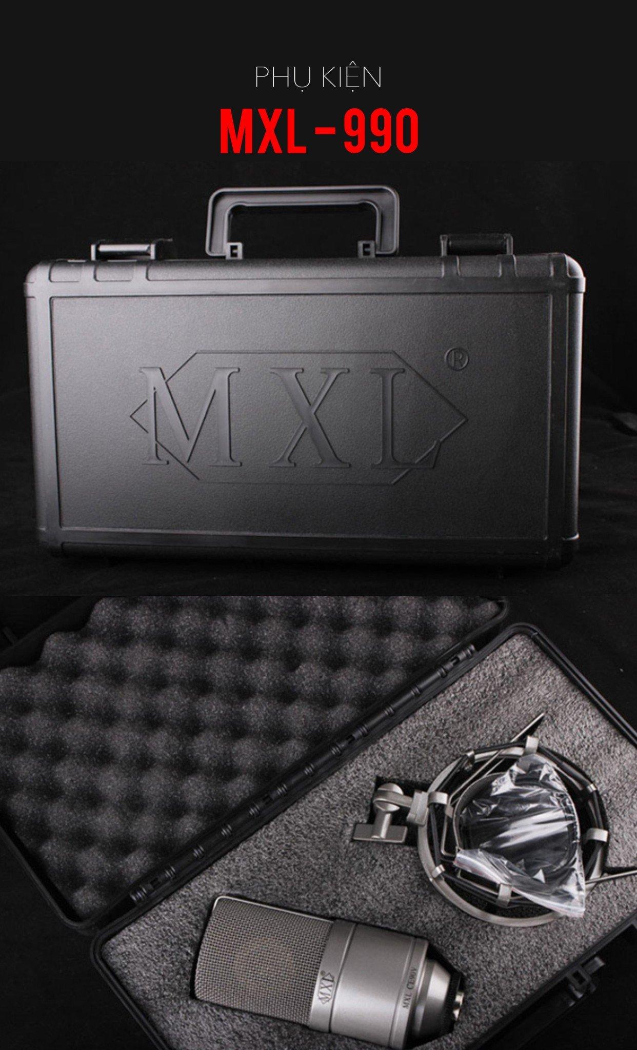 Microphone Condenser MXL 990 - Micro thu âm mini tại nhà