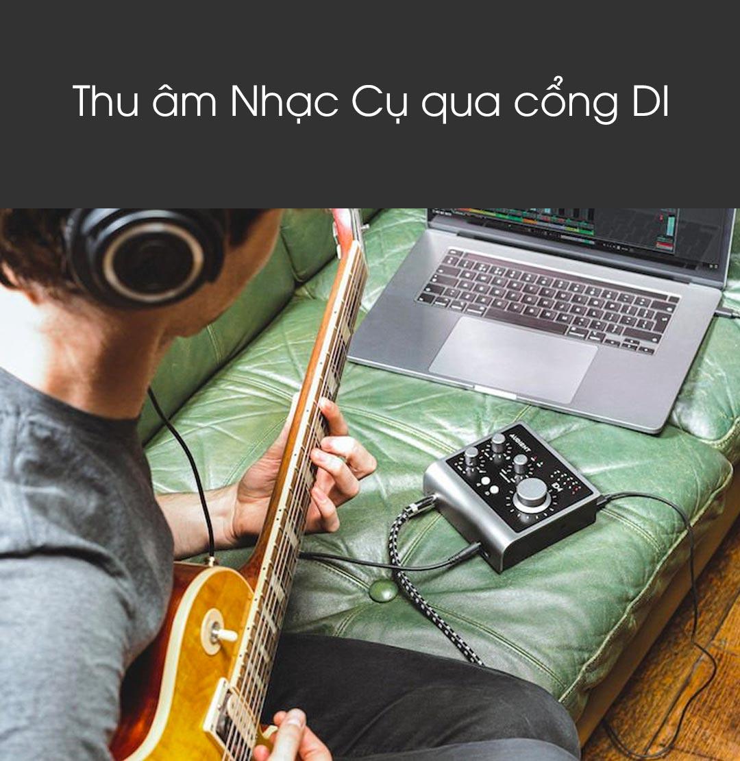 Sound card Audient iD4 MKII - Sound card thu âm mini