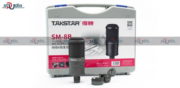 Micro thu âm takstar sm-8b chuyên nghiệp, hộp đựng nhựa
