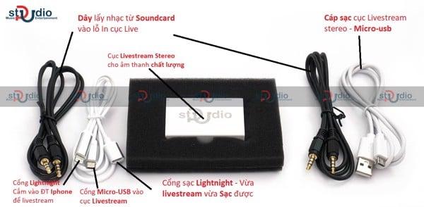 Dây livestream Stereo PU cho âm thanh 100% vào điện thoại