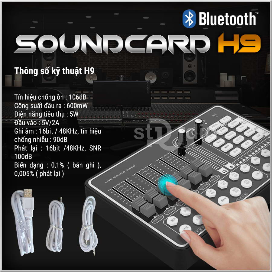 Soundcard livestream H9 (Bluetooth) - Soundcard thu âm điện thoại