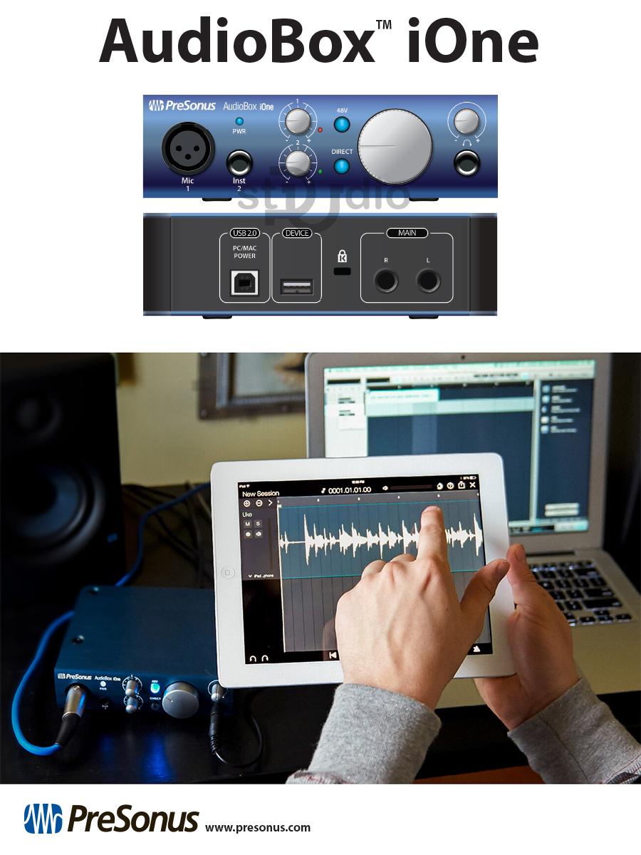Sound card Presonus AdioBOX IONE - Soundcard thu âm mini