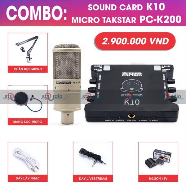 Khách hàng test bộ livestream soundcard XOX K10 và Micro thu âm Ami Bm900