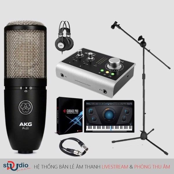 bộ thu âm Audient iD14 Micro thu âm AKG P420