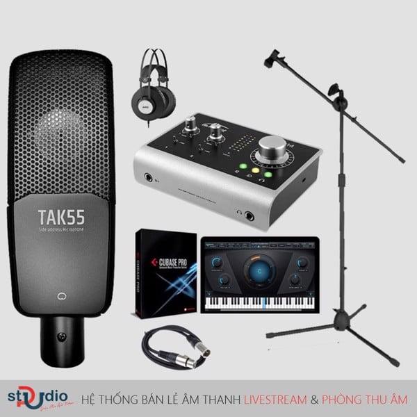 Bộ thu âm Audient iD14 Micro thu âm Takstar TAK55