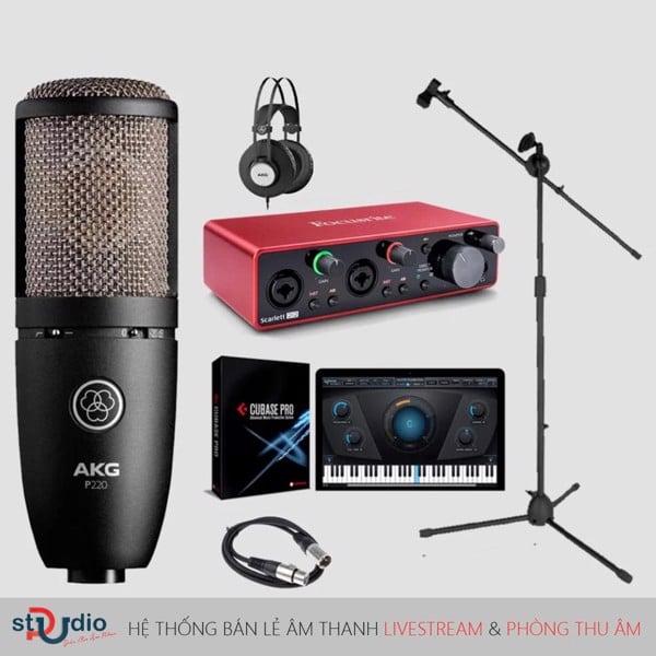 Bộ thu âm Focusrite Scarlett 2i2 3rd Micro thu âm AKG P220