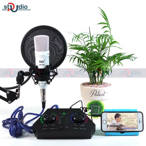 Bộ livestream Max730 Sound + Mic thu âm ISK AT100