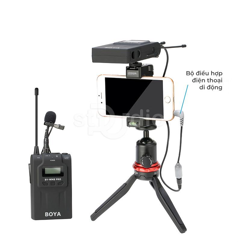 Microphone cài áo không dây BOYA WM8 PRO K1, Micro wireless tốt