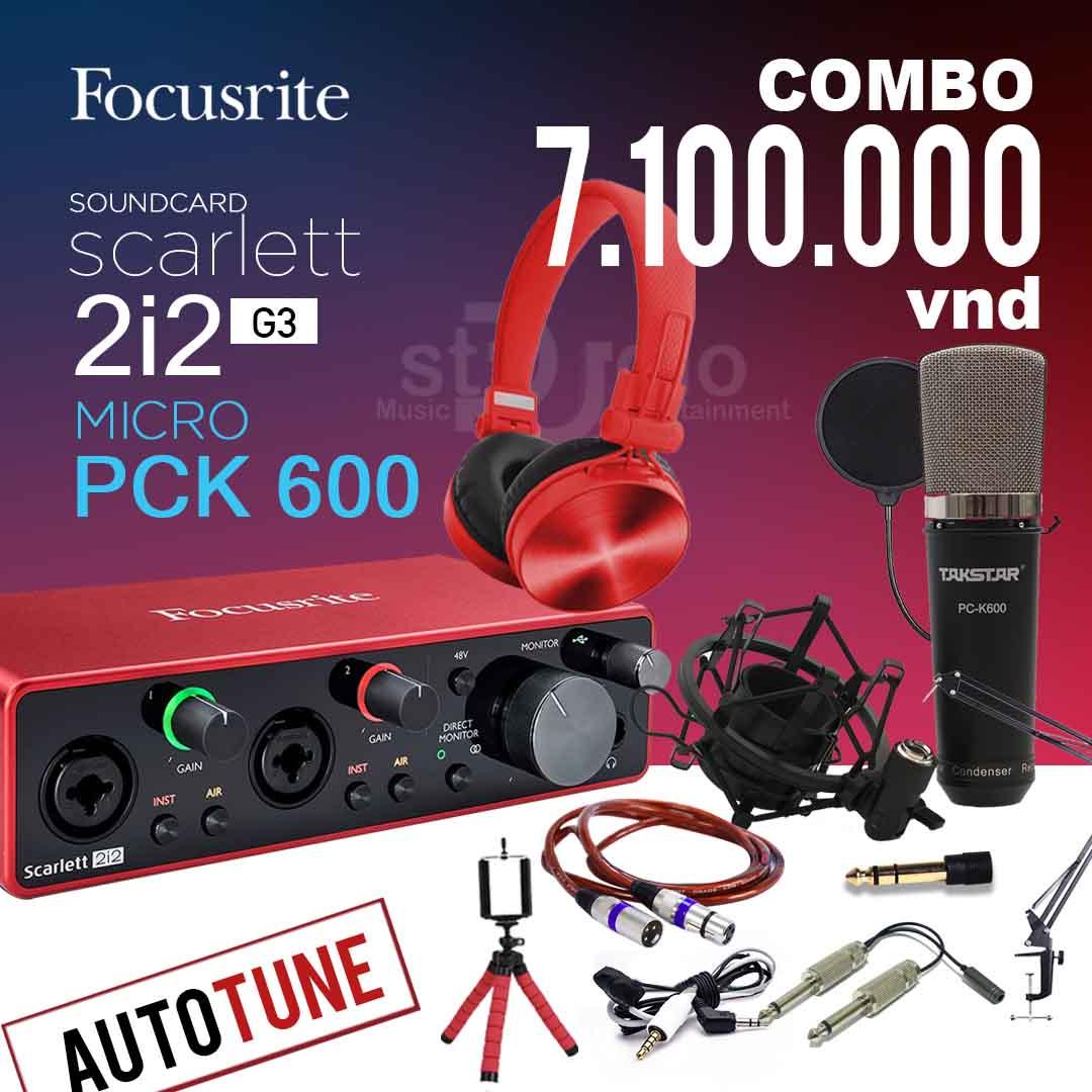 Combo tốt nhất từ Soundcard Focusrite Scarlett 2i2 3rd (Gen) - Thu âm studio 2 Mic