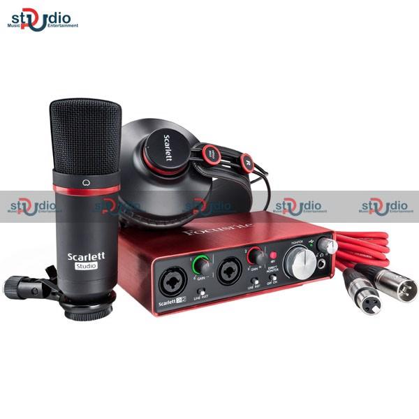 Combo Focusrite Scarlett 2i2 Studio Pack (Gend 2), bộ thu âm chuyên nghiệp tại nhà