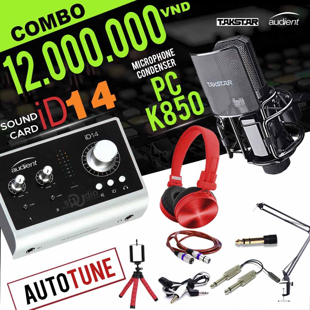 Combo tốt nhất từ Soundcard thu âm cao cấp Audieacnt iD14, thu âm Studio