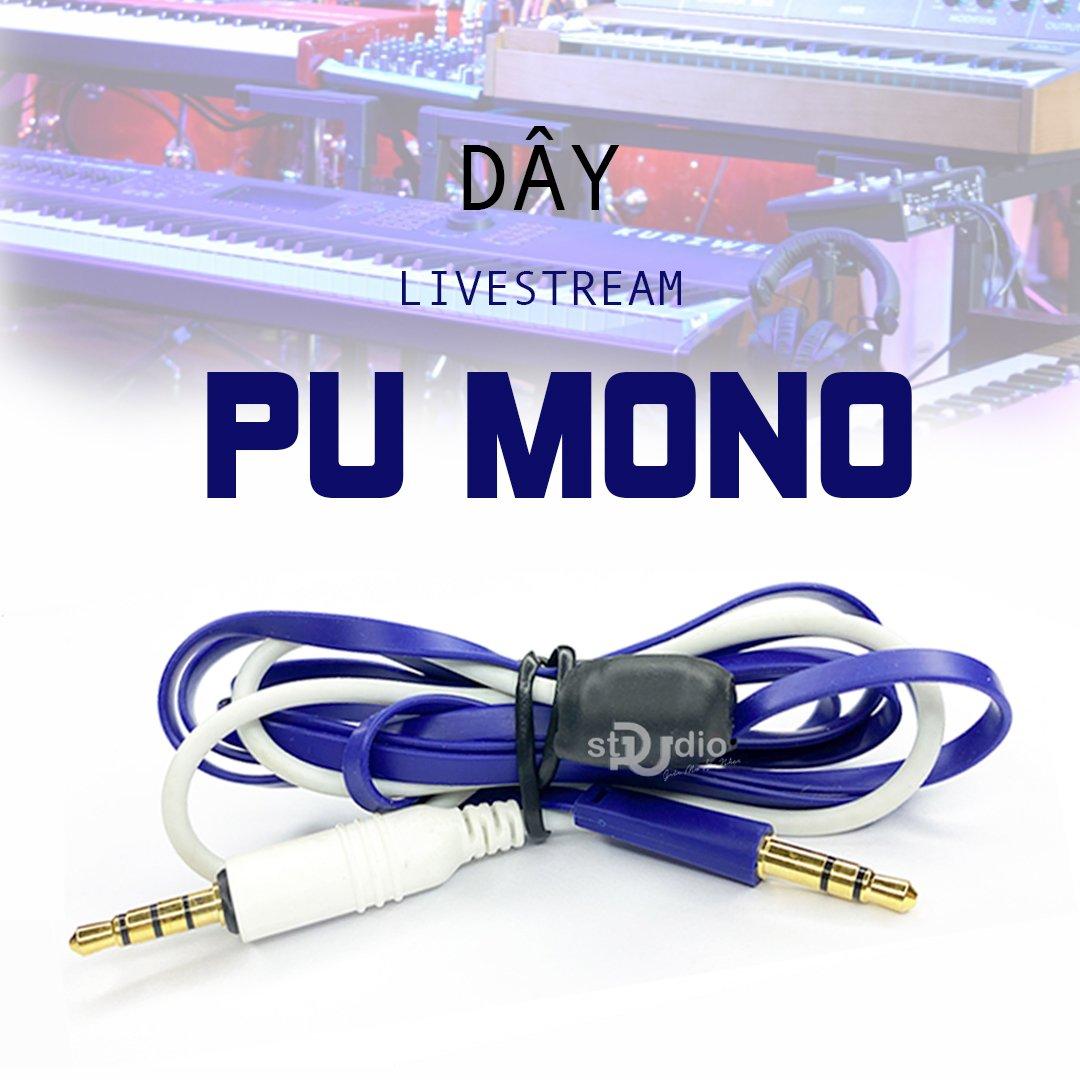 Dây livestream PU Mono, cho âm thanh chất lượng vào điện thoại