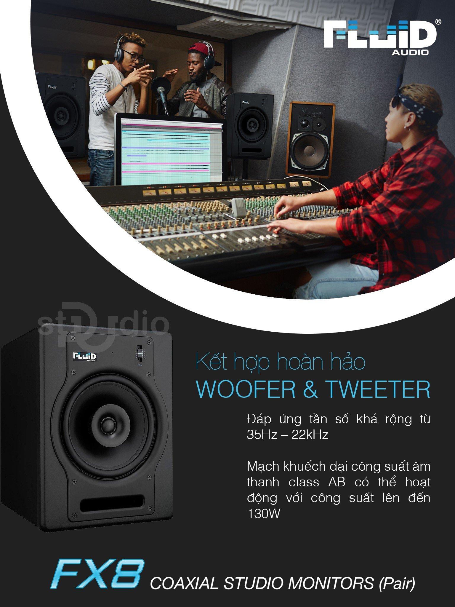 Loa kiểm âm FLUID AUDIO FX8, Monitor Studio