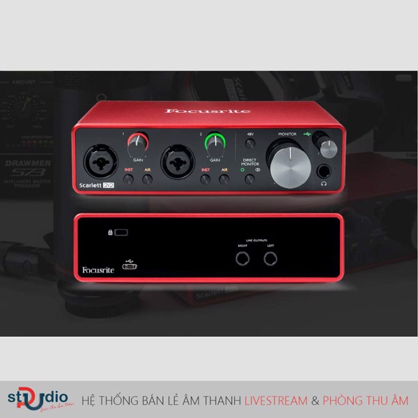 sound card thu âm focusrite 2i2 gen3