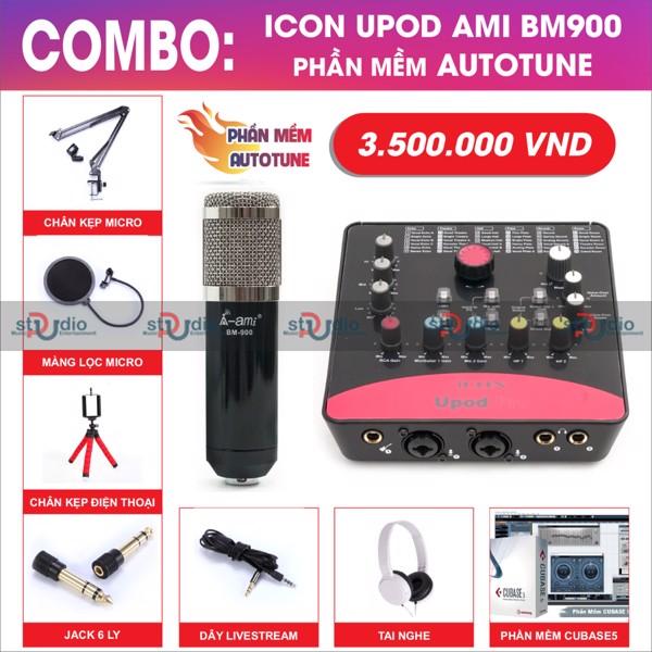 Micro livestream Ami Bm 900 - thu âm hát online karaoke chuyên nghiệp