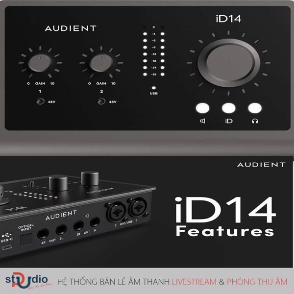 sound card thu âm audient iD 14