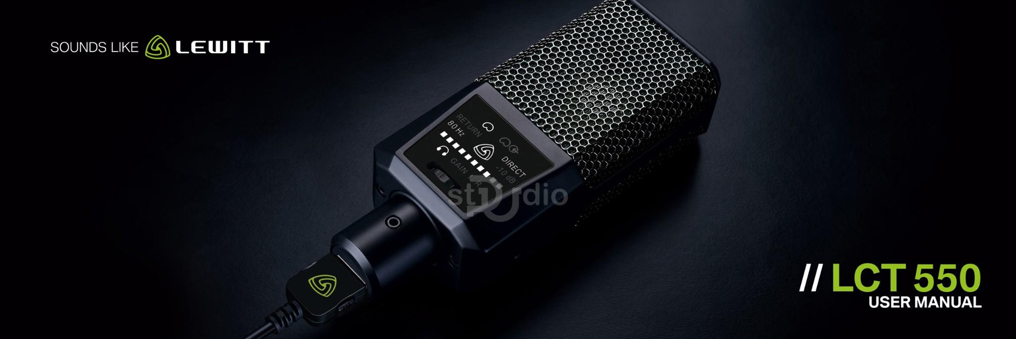 Microphone thu âm LEWITT LCT 550, Mic thu âm cao cấp