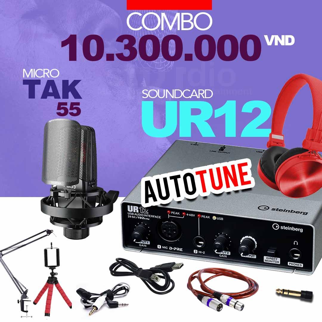 Combo tốt nhất từ Soundcard thu âm Yamaha Steinberg UR12, Interface thu âm mini