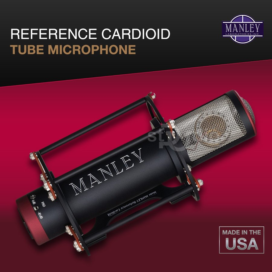 Microphone thu âm MANLEY REFERENCE CARDIOID TUBE, Made in USA
