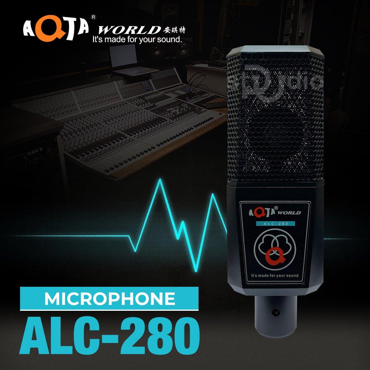 Microphone livestream AQTA ALC-280, Mic thu âm 5v