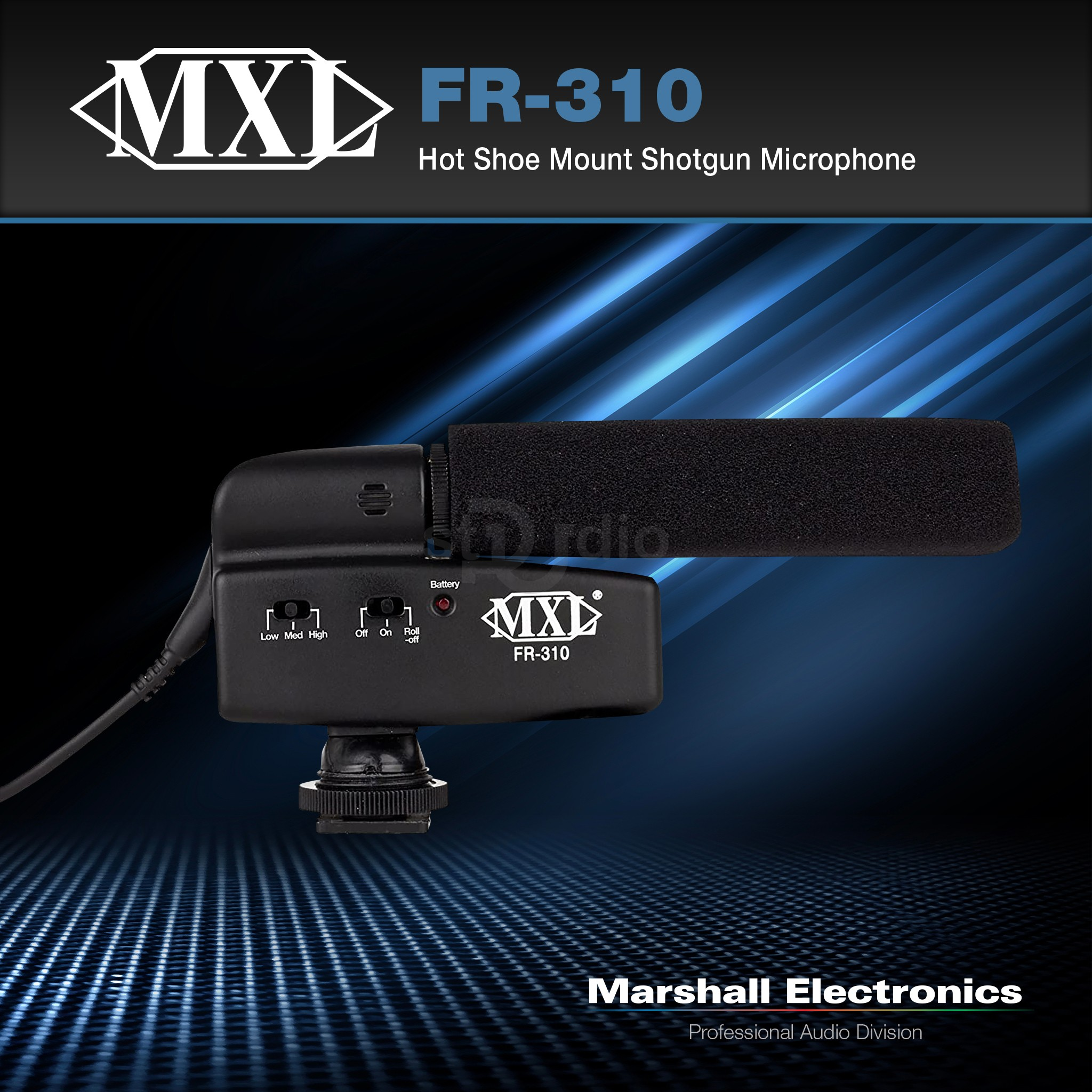 Microphone SHOTGUN MXL FR-310 - Micro làm video, gắn máy quay