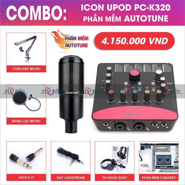 bộ-livestream-soundcar-icon-upod-pro-mic-thu-am-takstar-pck320-pustudio