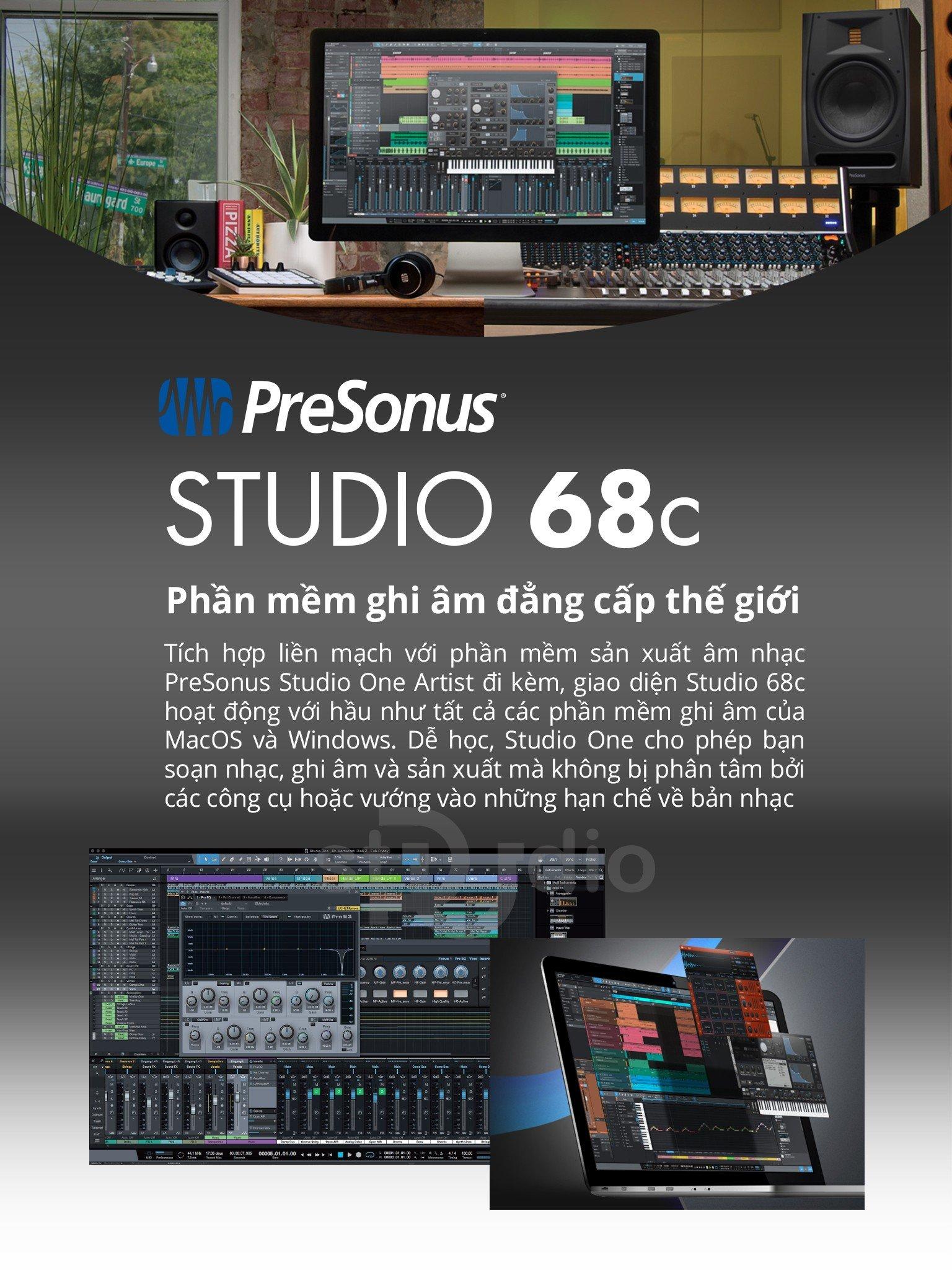 Sound card Presonus Studio 68C - Soundcard thu âm Studio