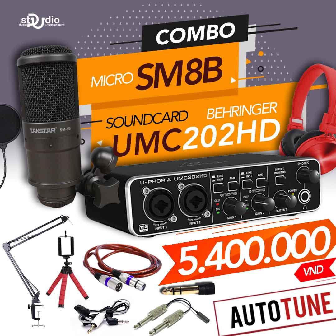 Combo tốt nhất từ Soundcard thu âm Behringer U-PHORIA UMC202HD