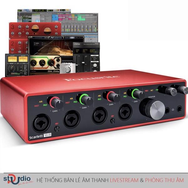 sound card thu âm focusrite