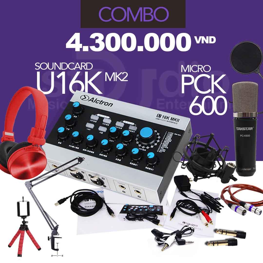 Combo tốt nhất từ Sound card livestream ALCTRON U16K MKII, bộ thu âm chuyên online