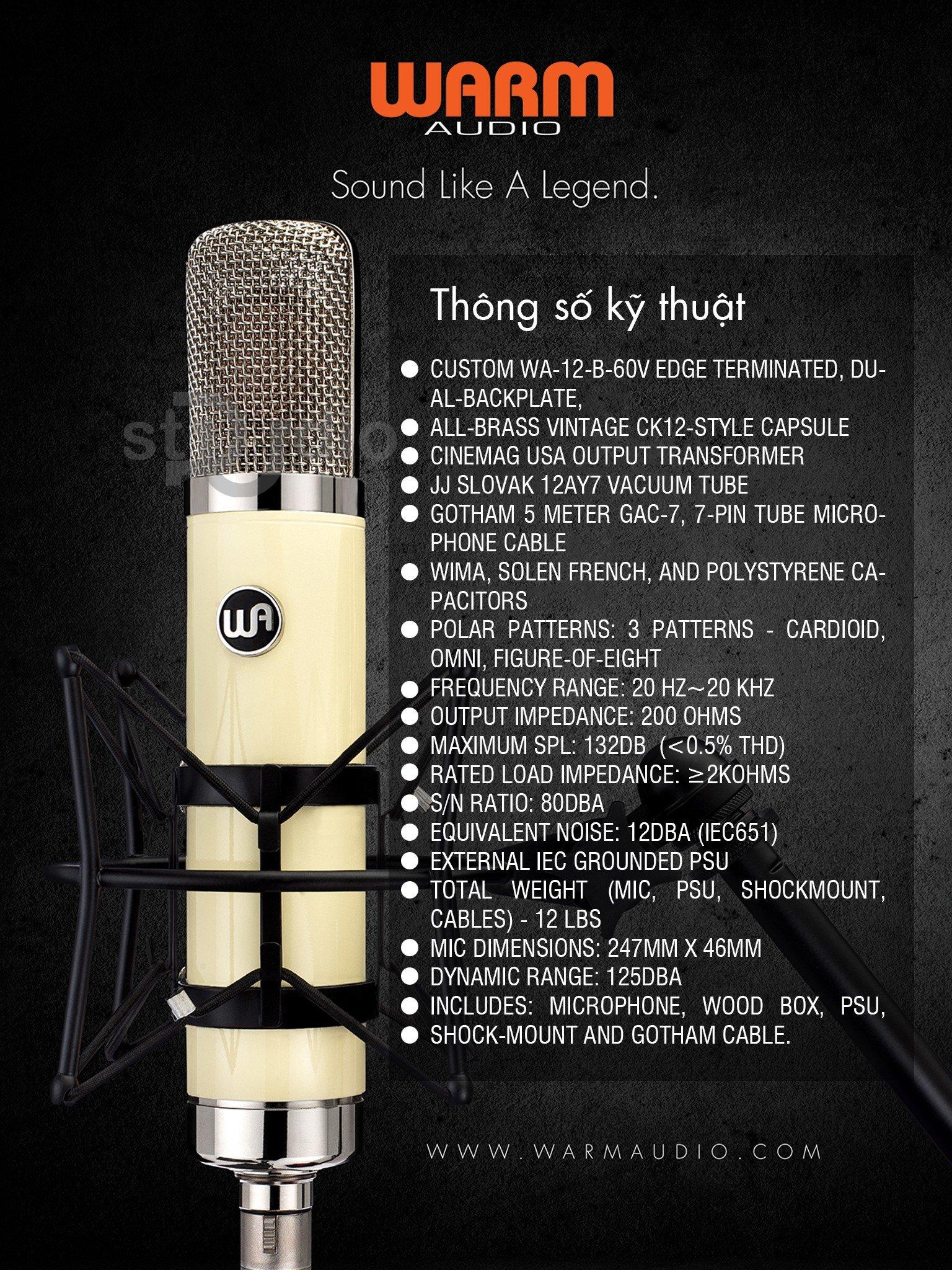 Microphone thu âm WARM AUDIO WA-251, Mic thu âm cao cấp