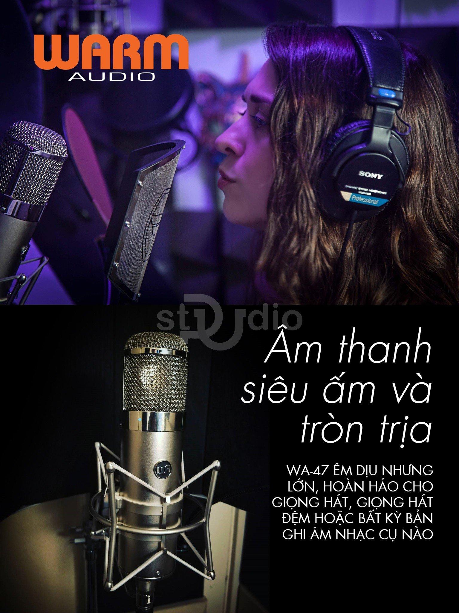 Microphone thu âm WARM AUDIO WA-47, Mic thu âm cao cấp