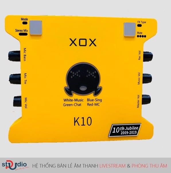 soundcard thu âm XOX K10