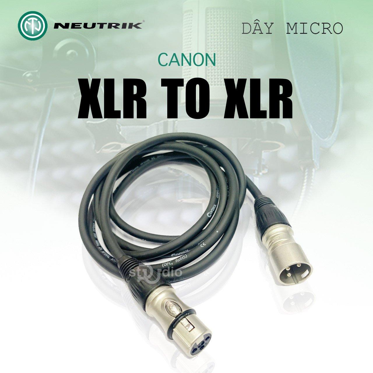 Dây Micro Canon Neutrik Yongshen - XLR to XLR Cable Microphone