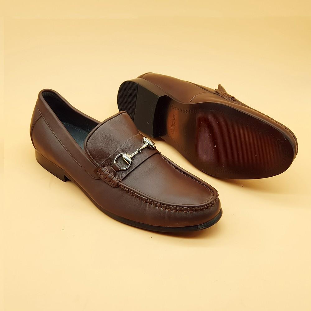 Giày Tây Nam Kiểu Lười Ensado 160916 (Nâu) 3