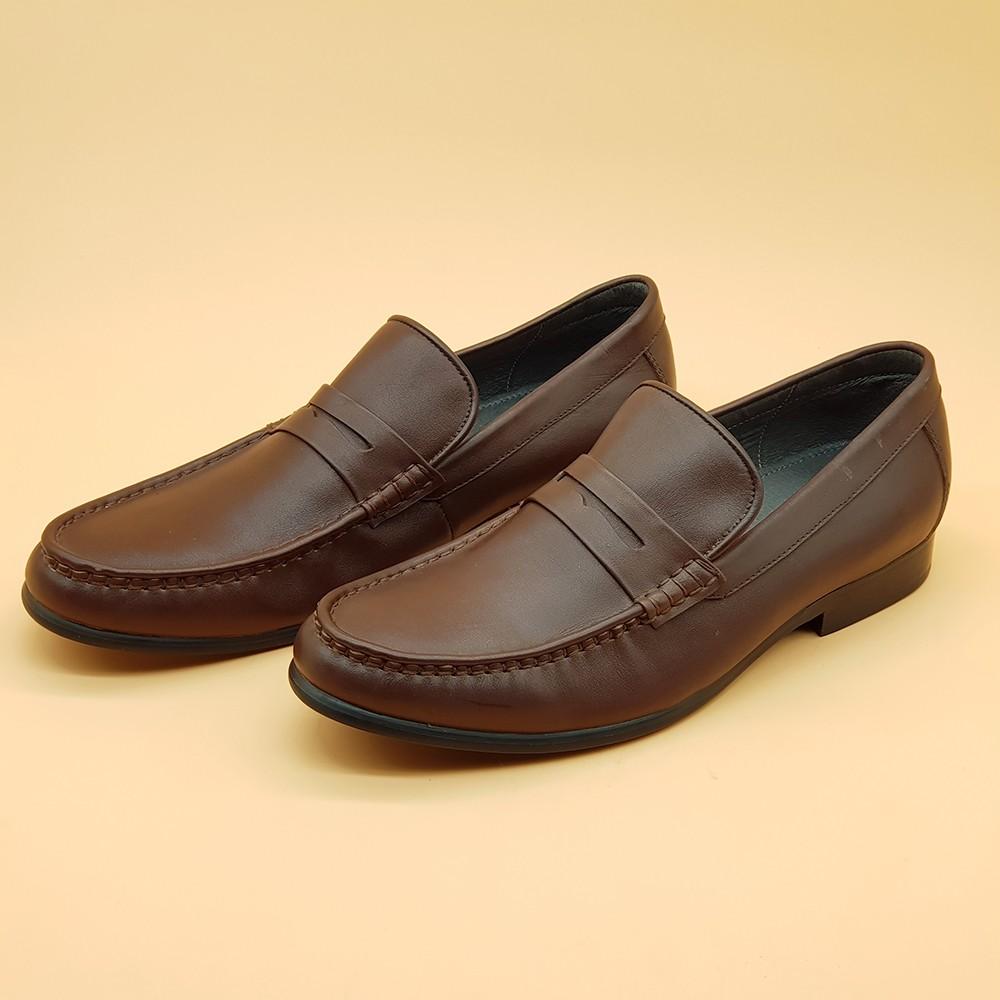 Giày Tây Nam Kiểu Lười Ensado 161116 (Nâu) 2