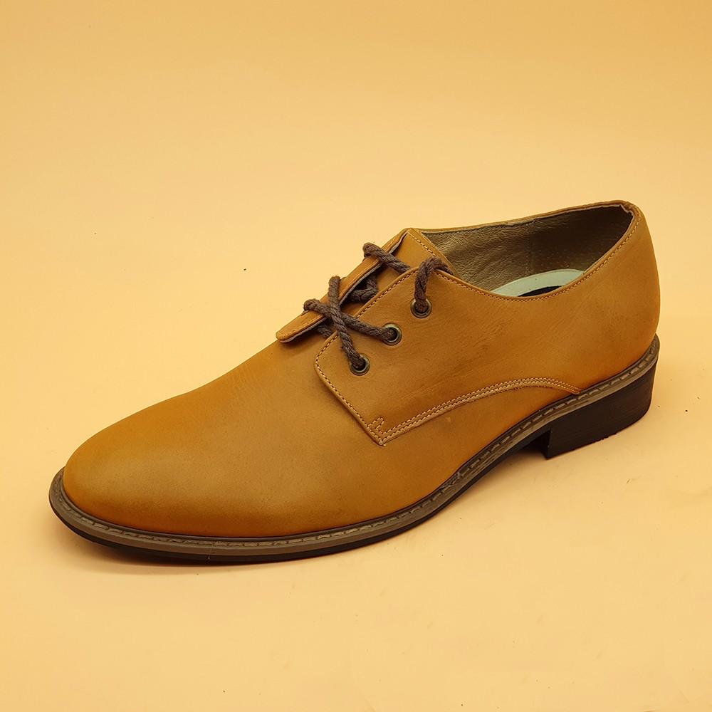 Giày Tây Nam Buộc Dây Ensado 161516 (Vàng) 4