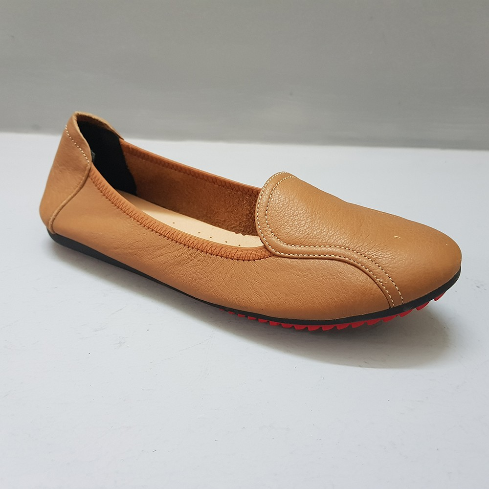 Giày Đế Bằng Giày Búp Bê Nữ Evelynv GB0916 (Nâu) 4