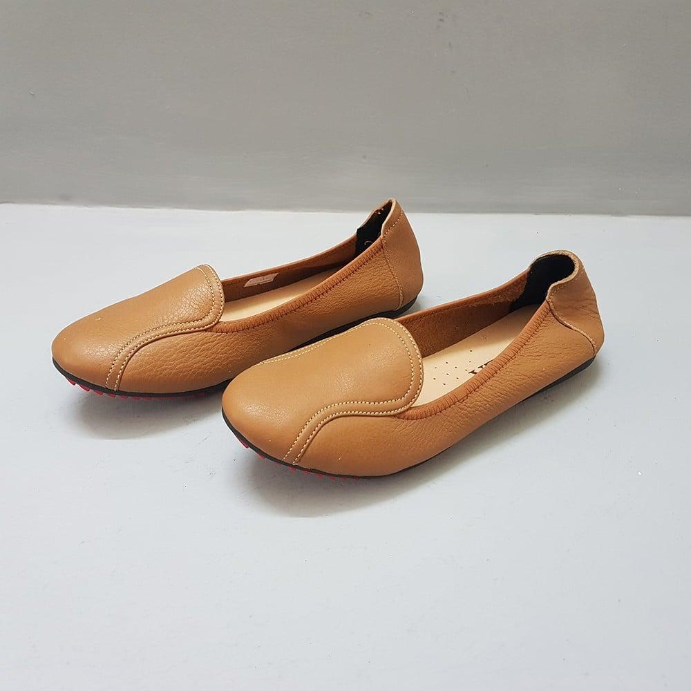 Giày Đế Bằng Giày Búp Bê Nữ Evelynv GB0916 (Nâu) 3